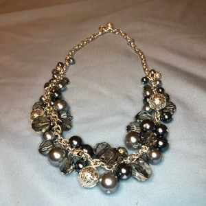 Premier Designs Silver Beaded Short Necklace